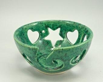 Large Pottery Yarn Bowl Knitting Bowl Crochet Bowl Lead free Glaze