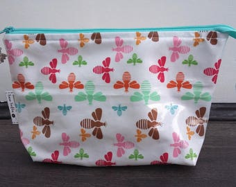 Bumble Bees wipe clean wash bag