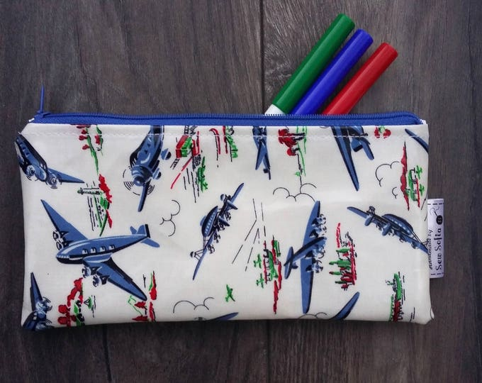 Wipe clean limited edition  Vintage Planes pencil case
