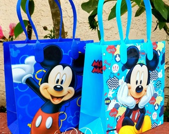 MICKEY MOUSE, party favor bags, goodie bags, small 12ct.