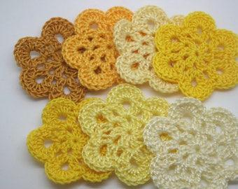 7 flowers crochet 5 cm