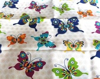 Fabric upholstery butterflies 70 x 50 cm