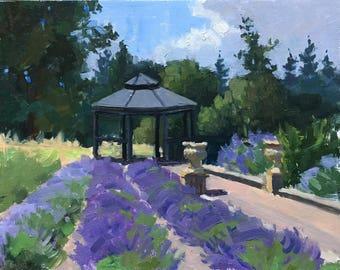 Lavender Respite - Original contemporary Landscape painting - Oil Painting