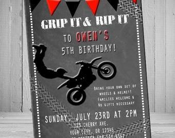 Dirt Bike Birthday Invite