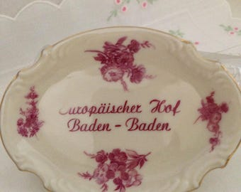 Europaischer Hof Baden-Baden Germany Post War Trinket Dish