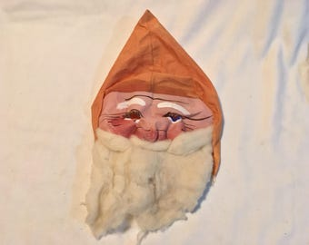 Antique Santa Claus Mask Christmas Collectible