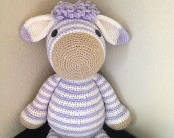 zebra toy, crochet zebra, crochet animal, stuffed zebra, zebra plushie, stuffed animal, kids toy,