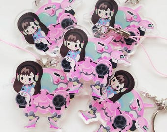Sharodactyl Pick One: Overwatch Dva Keychain or Phonecharm