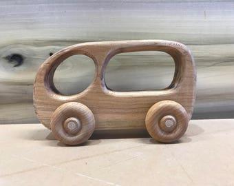 Waldorf Style Wooden Bus and Car Set