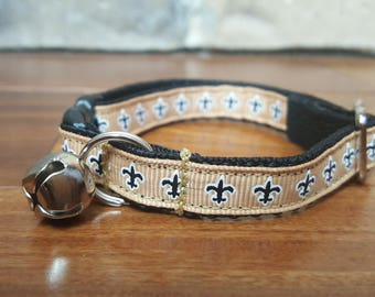 New Orleans Saints Fleur de Lis Breakaway Cat Collar