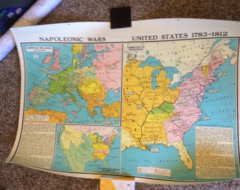 Us Civil War Etsy - Rustic map of the us in the civil war