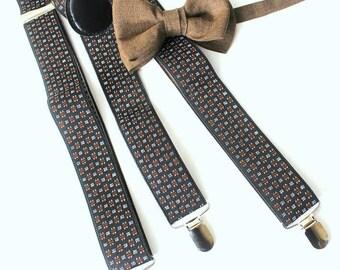 Suspender with bow tie dark-green,petrol