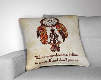 Dream Catcher Pillow Etsy