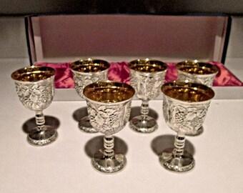 Vintage Cordial Goblets