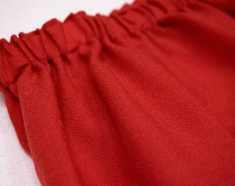 wool skirt with elastic band