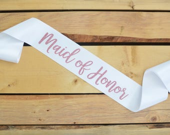 Maid of Honor Sash, Maid of Honor Gift, Bride to Be Sash, Bride Sash, Bachelorette Party Sash, Bridal Shower Sash, Custom Sash, Future Mrs