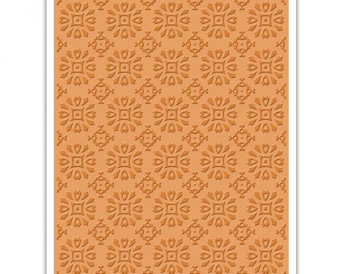 New! Sizzix Tim Holtz Texture Fades Embossing Folder - Rosettes - 662391