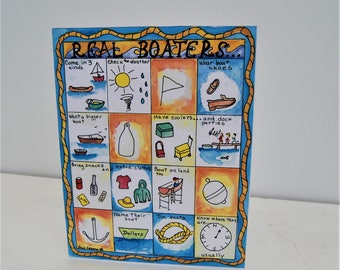 Real Note Cards with envelopes - REAL BOATERS......