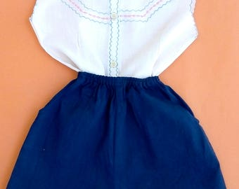 Complete with shirt and shorts (4-5 years) made in italy, 1960