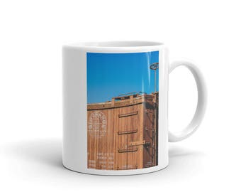 Mug - Red Silo Original Art - Rio Grande Train Car