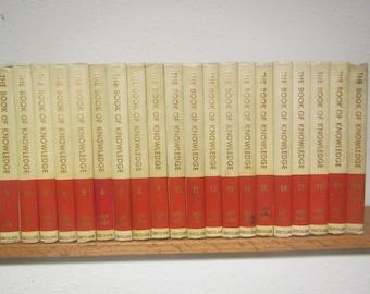 1961 BOOK of KNOWLEDGE Encyclopedia 20 volume set A thru Z , 50th Anniversary set, Children's Encyclopedia