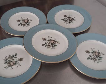 5 Royal Doulton 'Rose Elegans' Tea Cake Plate Plates 165 mm