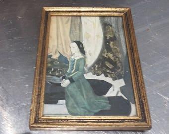 Vintage Print Medici Society Portinari Triptych H Van der Goes