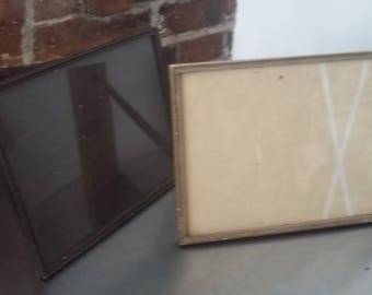 2 Vintage Free Standing Photo Picture Frames