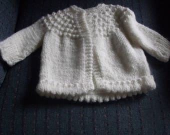 vintage hand knitted baby sweater