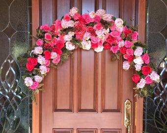 Wedding Arch, Wedding Ceremony Floral Arch, Wedding Ceremony Floral, Bridal Arch, Elegant Floral Swag, Wedding Arch, Bridal Floral  Swag