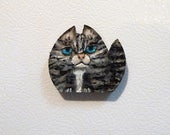 Cat magnet, Locker magnet, Memo magnet, Hand painted magnet, Magnet, Pet magnet, Kitty magnet,