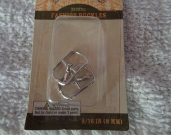 Set of 2 Silver Colored Buckles-  Perfect size for  Doll Clothes- Belts-Shoes