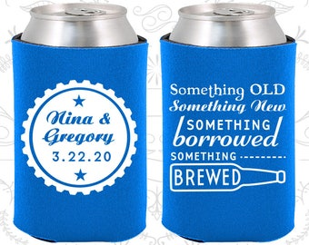 Blue Wedding, Blue Can Coolers, Blue Wedding Favors, Blue Wedding Gift, Blue Wedding Ideas (265)