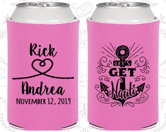 Orchid Wedding, Orchid Can Coolers, Orchid Wedding Favors, Orchid Wedding Gift, Orchid Wedding Decorations (292)