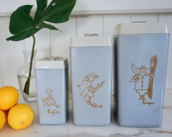 Retro Nylex Container set, vintage canisters,  kitschy kitchen