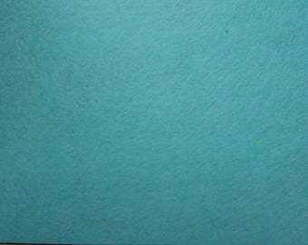 Felt 1.5 mm light turquoise blue colour A4 size sheet
