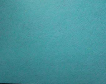 Felt 1.5 mm light turquoise blue colour A4 size sheet