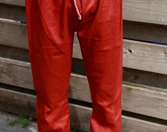 Thorsberg trousers linen - red