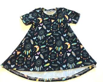 Baby Girl Dress 6/12 months -  Ready to ship, boho