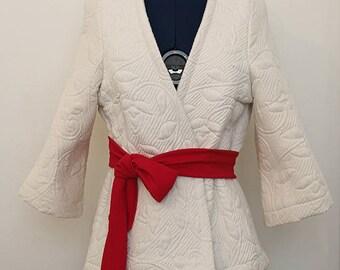 Elegant white Kimono jacket