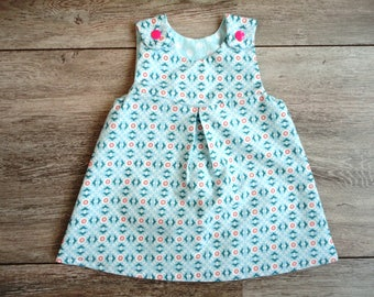 Reversible Baby Dress Flowers