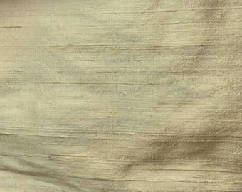 "Cream - 1041 - 78"" Cust Silk Dupioni - Handloom 54"" wide"