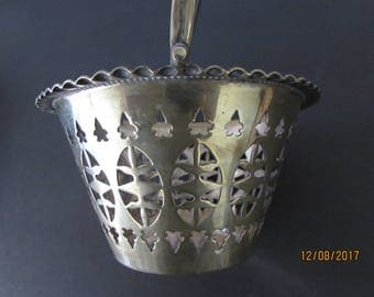 Silver plated flower girl basket silver platesd metal basket