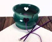Green Yarn Bowl, ceramic ...