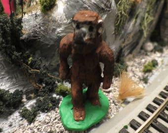 O Scale Bigfoot/ Yeti/ Sasquatch/ Abominable Snowman- Model train/ dollhouse/ diorama