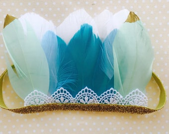 Beautiful summer feather crown