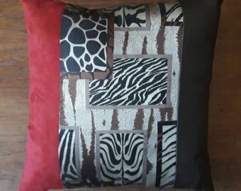 Square cushion cotton JACQUARD ethnic print