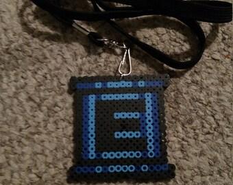 Mega Man - E Tank bead art lanyard