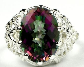 On Sale, 20% Off, Mystic Fire Topaz, 925 Sterling Silver Ring, SR260