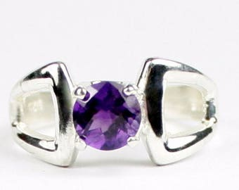 On Sale, 20% Off, Amethyst, 925 Sterling Silver Ring, SR307
